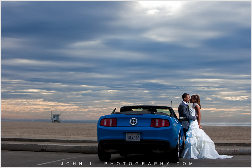 Sunset santa monica wedding photography