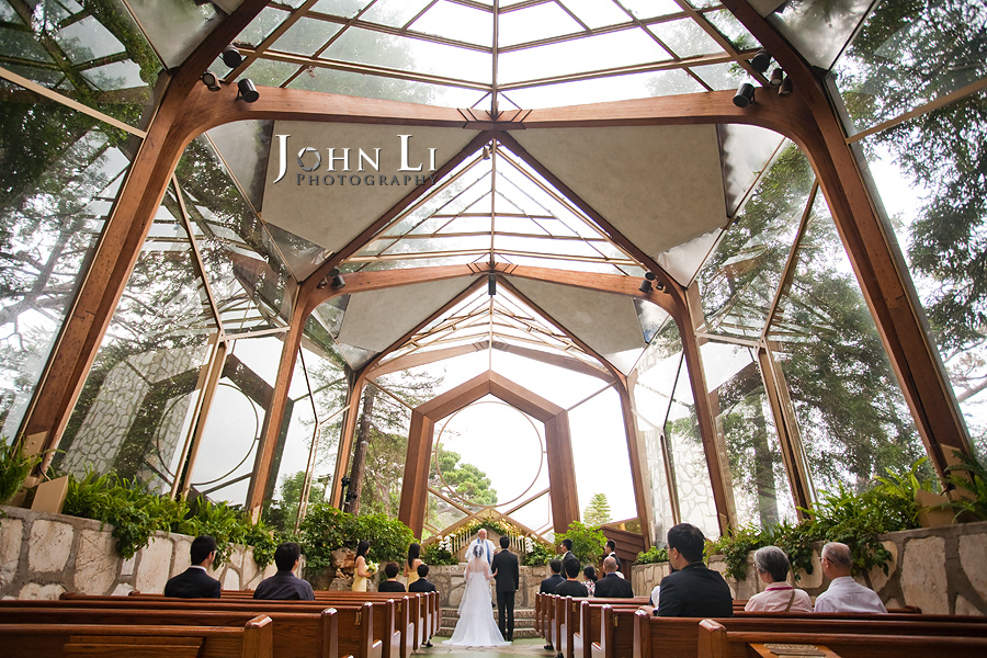 Wayfarers Chapel wedding view