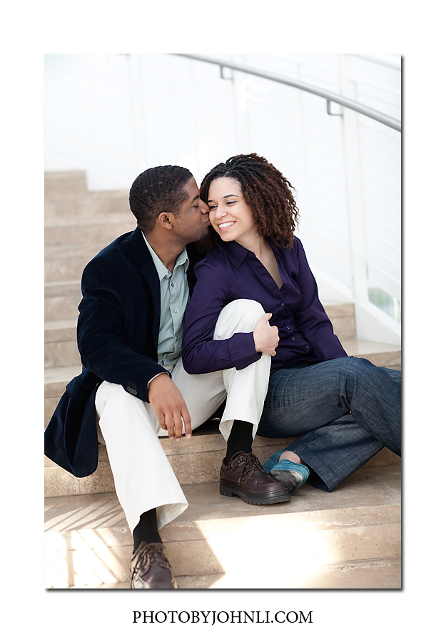 Getty Center Engagement photographer