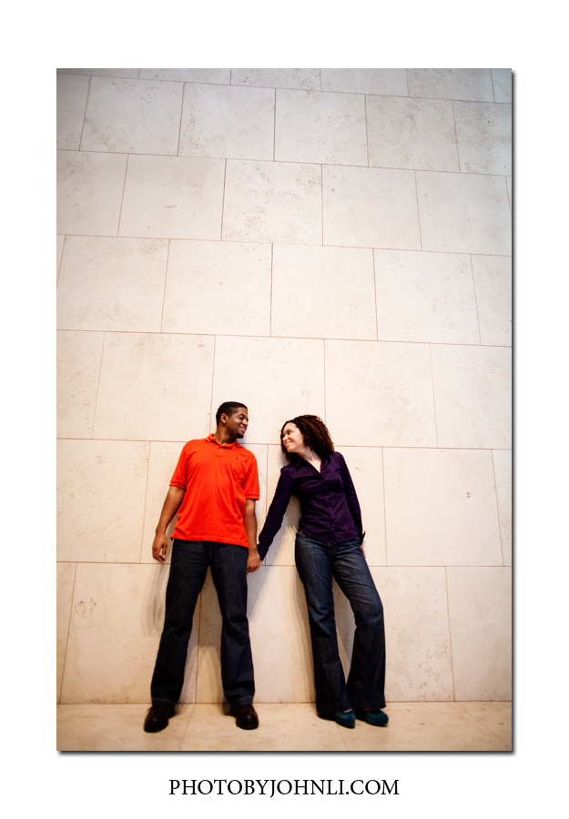 engagement session in Getty Center