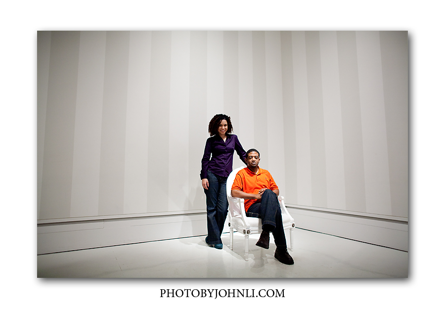 Los Angeles engagement photography engagement in Getty Center