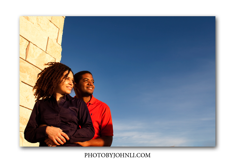 Sunset engagement in Getty Center