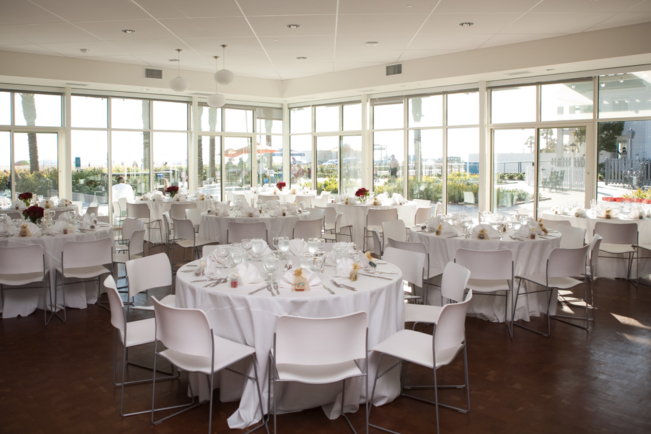 Annenberg Beach House wedding reception table setting