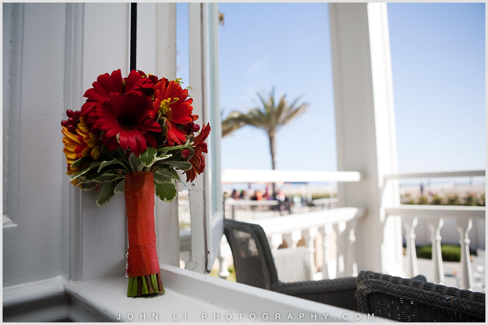 Bouquet in Annenberg Beach House window