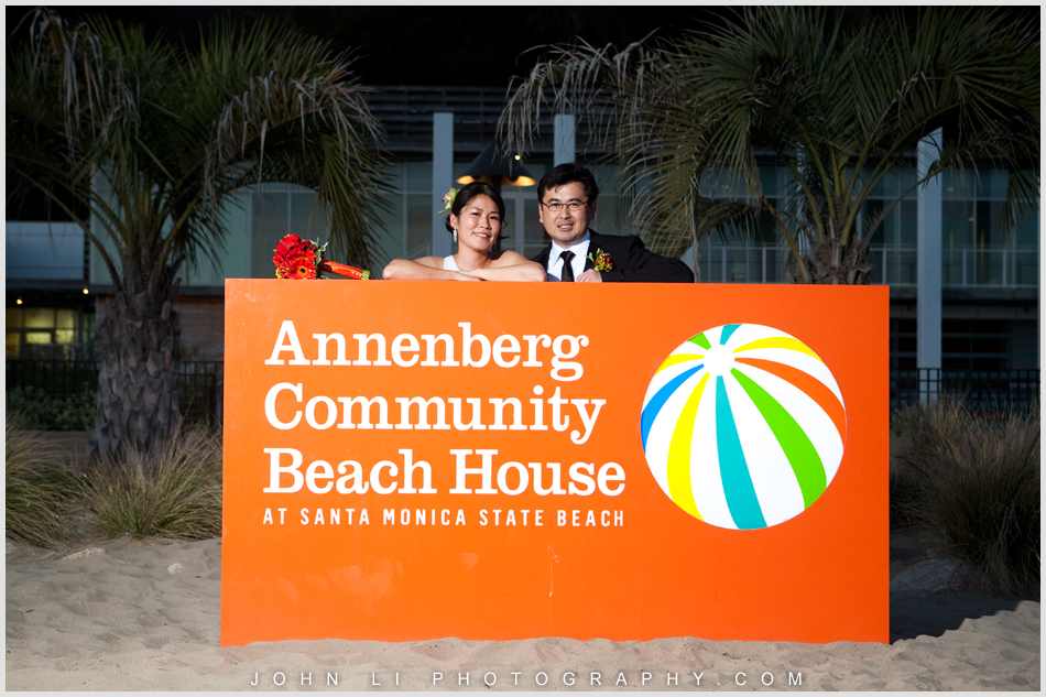 sign Annenberg Beach House wedding