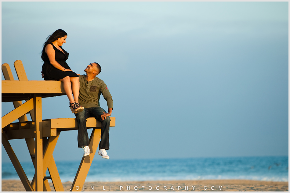 Beach engagement session in Newport Beach