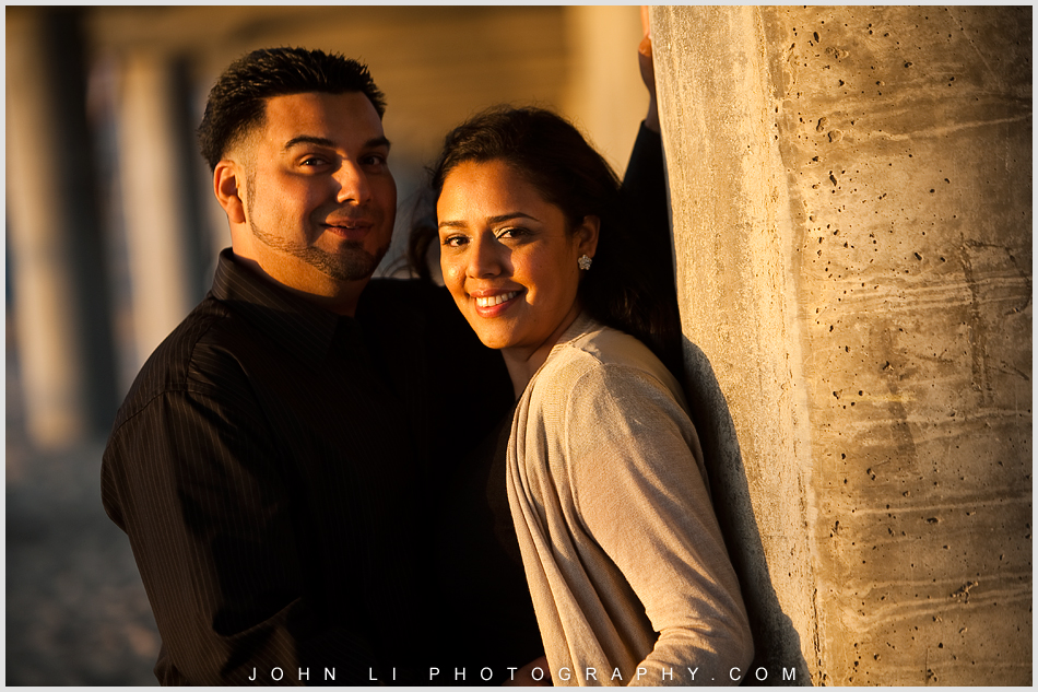 Huntington Beach  pier Engagement Photography sunset
