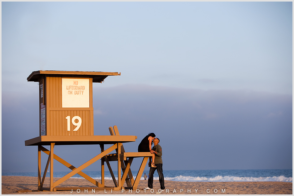 Newport Beach engagement on the beach