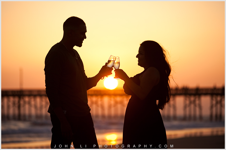 Sunset engagement in Newport Beach