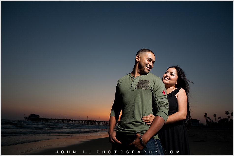 sunset engagement photos in Newport Beach