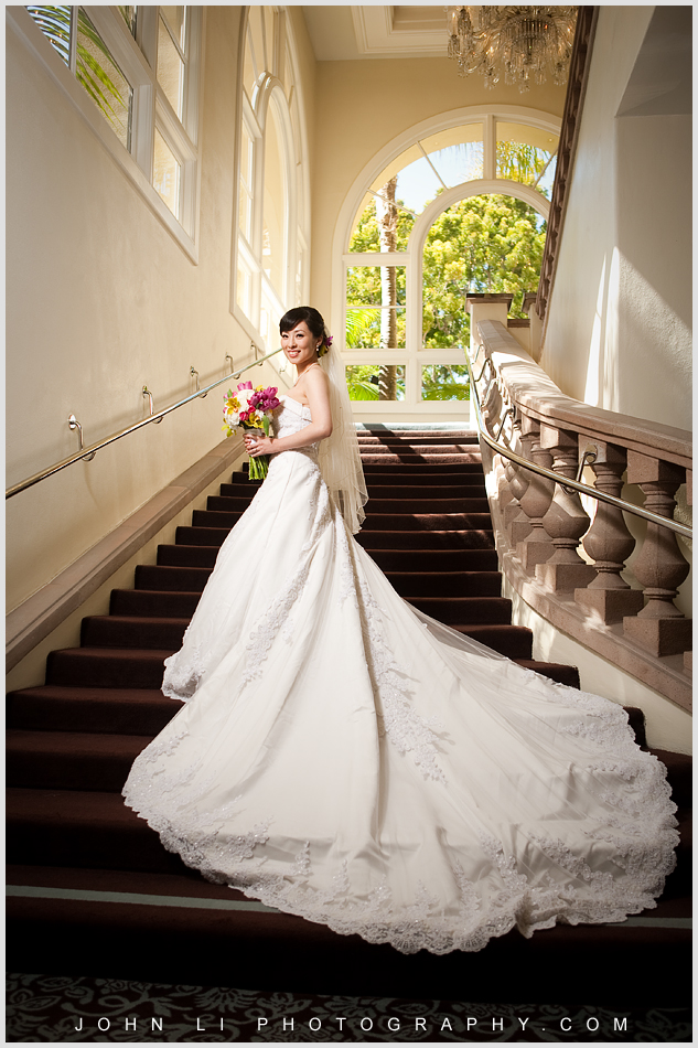 "This is the ""must go"" photo location in Ritz Carlton Hotel wedding"