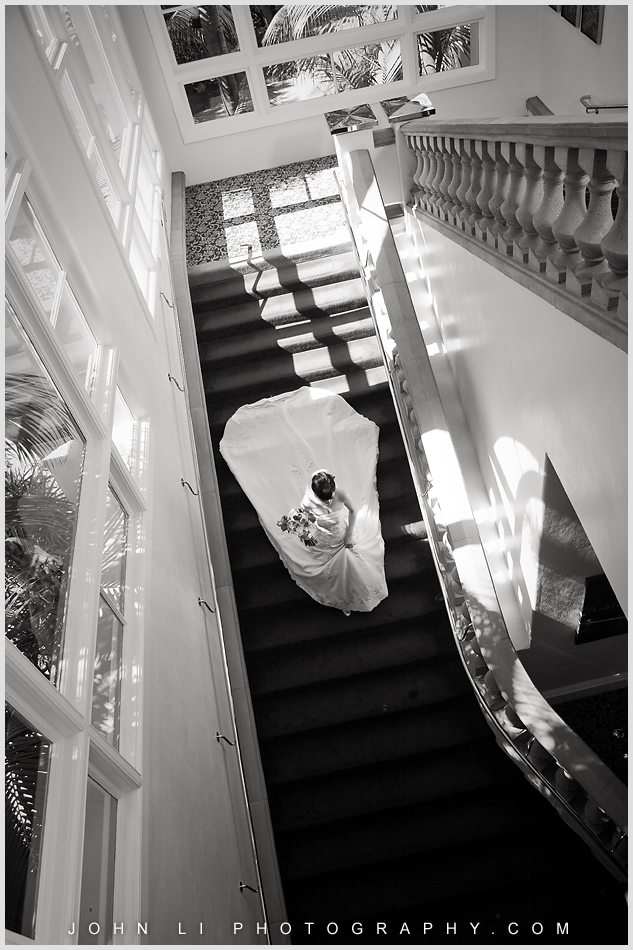 Bride walked down to the wedding ceremony - Ritz Carlton Hotel wedding