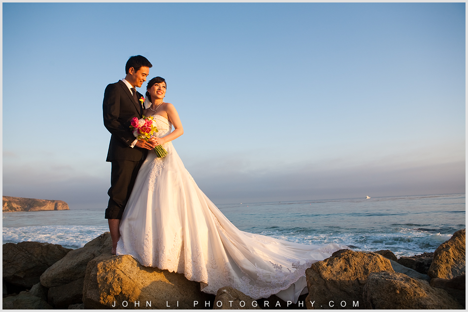 After wedding ceremony  went down to the beach for a half hour photos session during the sunset - Ritz Carlton Hotel wedding