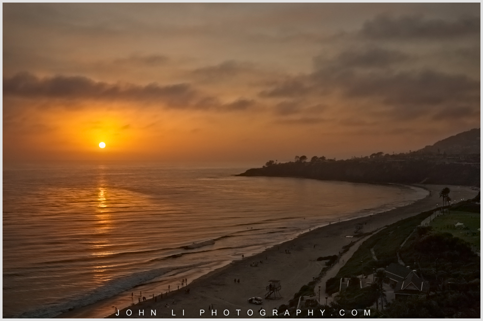 Beautiful sunset  from the ballroom of Ritz Carlton Dana Point