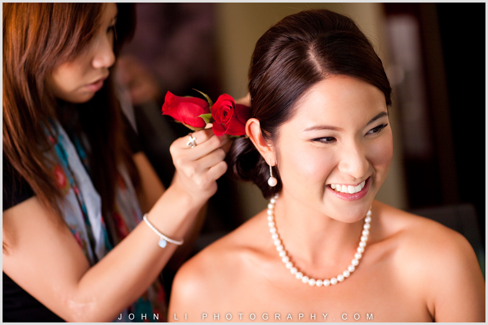 Hyatt Westlake Plaza in Thousand Oaks wedding bride getting ready