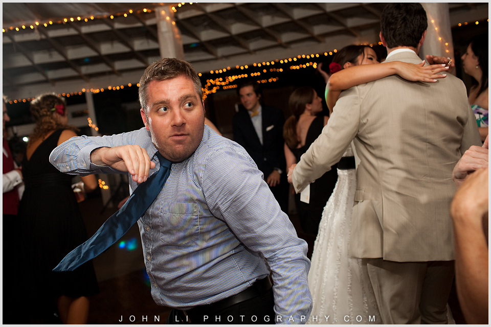 happy guest in Rancho De Las Palmas wedding reception