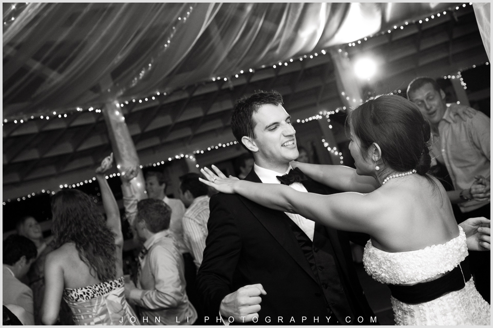 bride and groom dance in Rancho De Las Palmas wedding reception