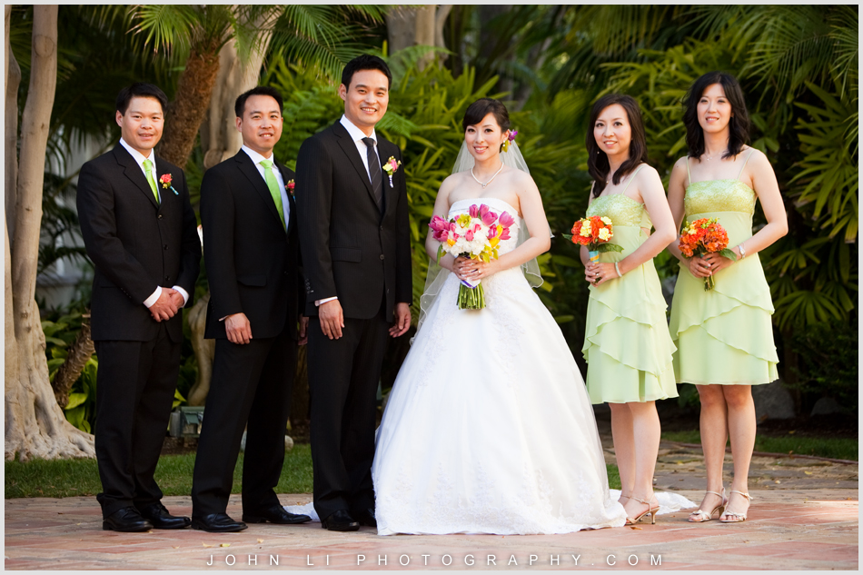 Wedding group photos in  Ritz Carlton Dana Point