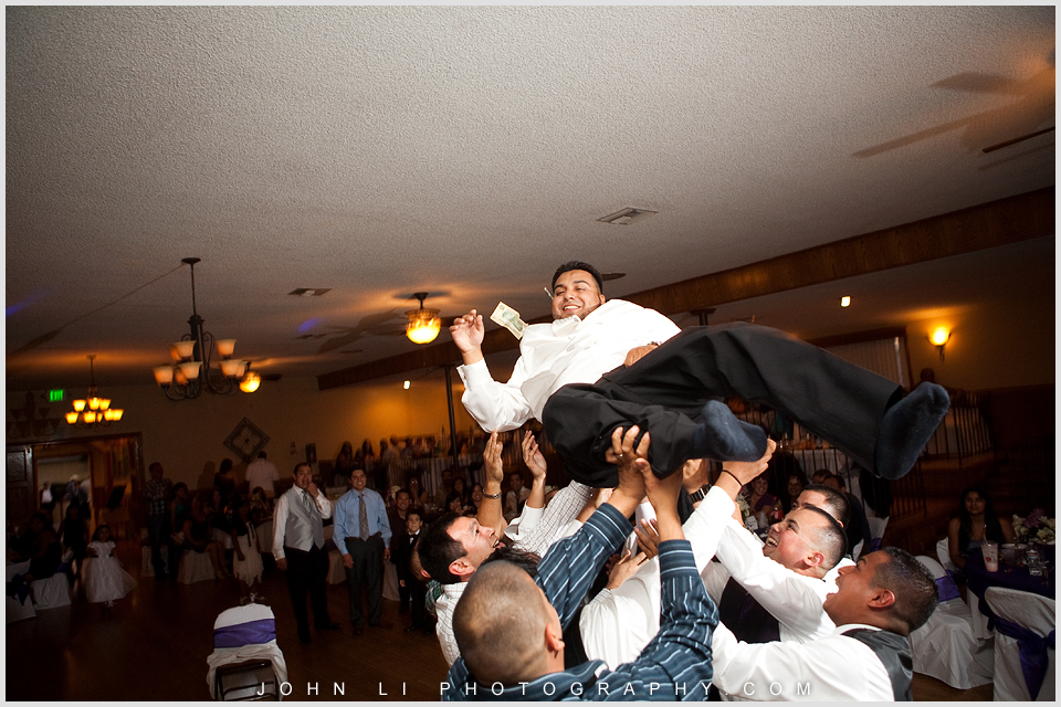 money dance in DES Artesia Halls Wedding reception group