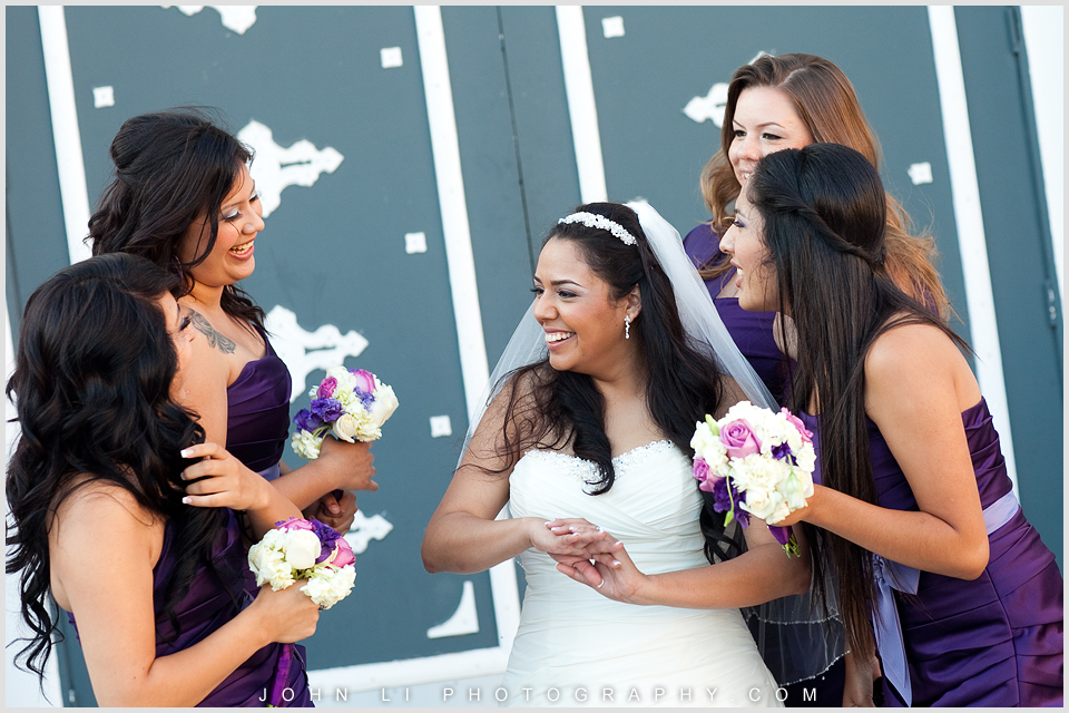 Bridal party wedding in DES Artesia Hall