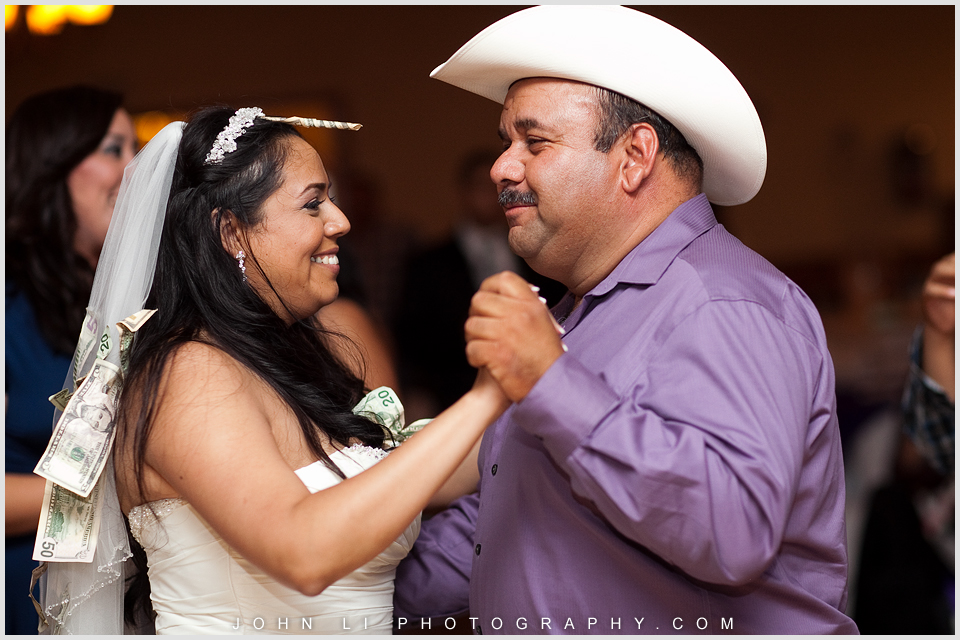 Money dance in DES Artesia Halls Wedding reception