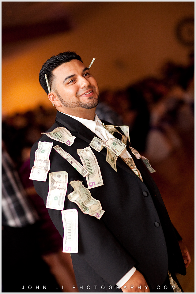groom money dance in DES Artesia Halls Wedding reception