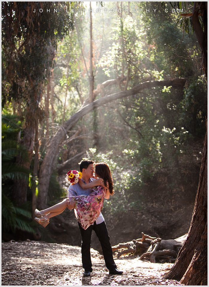 temescal gateway park engagement photos in Santa Monica