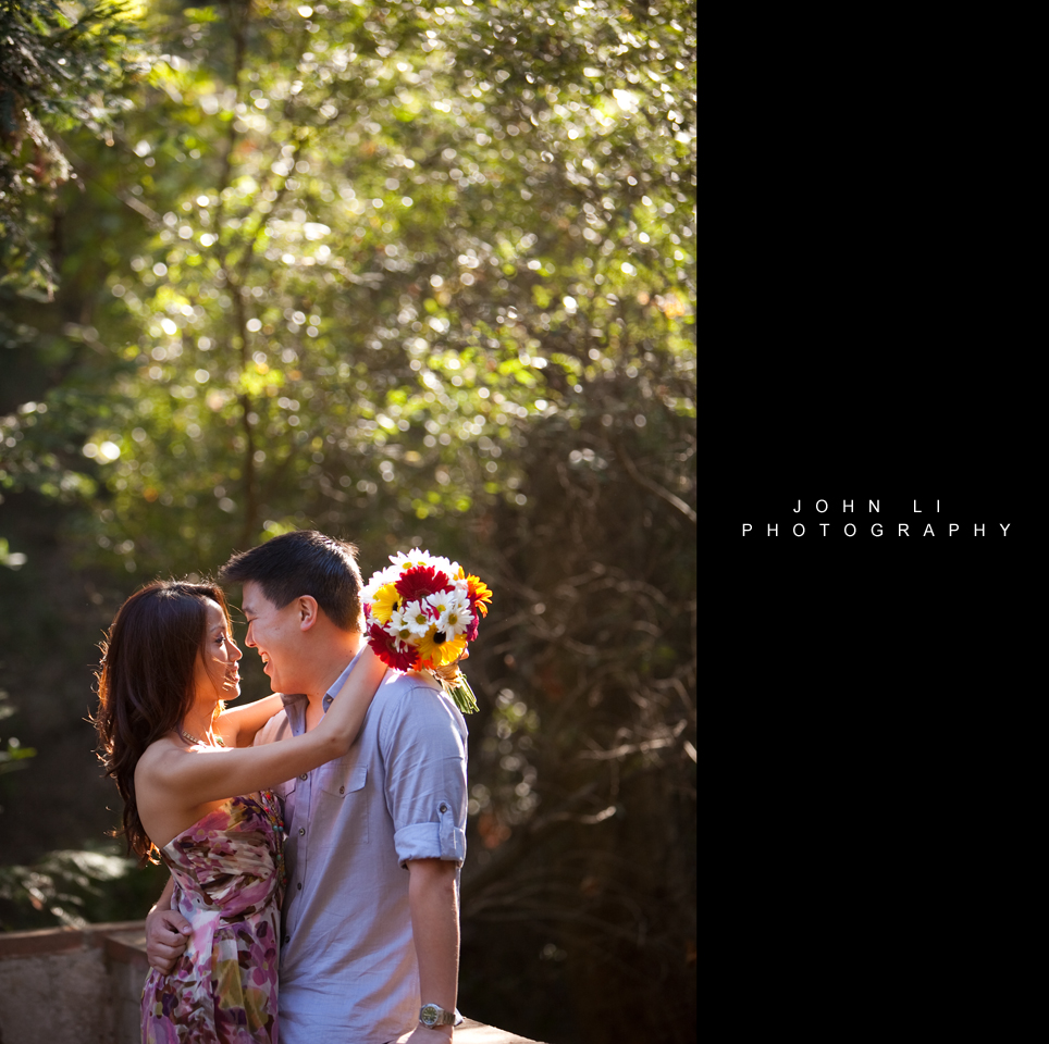 Santa Monica engagement photos in Temescal Gateway Park