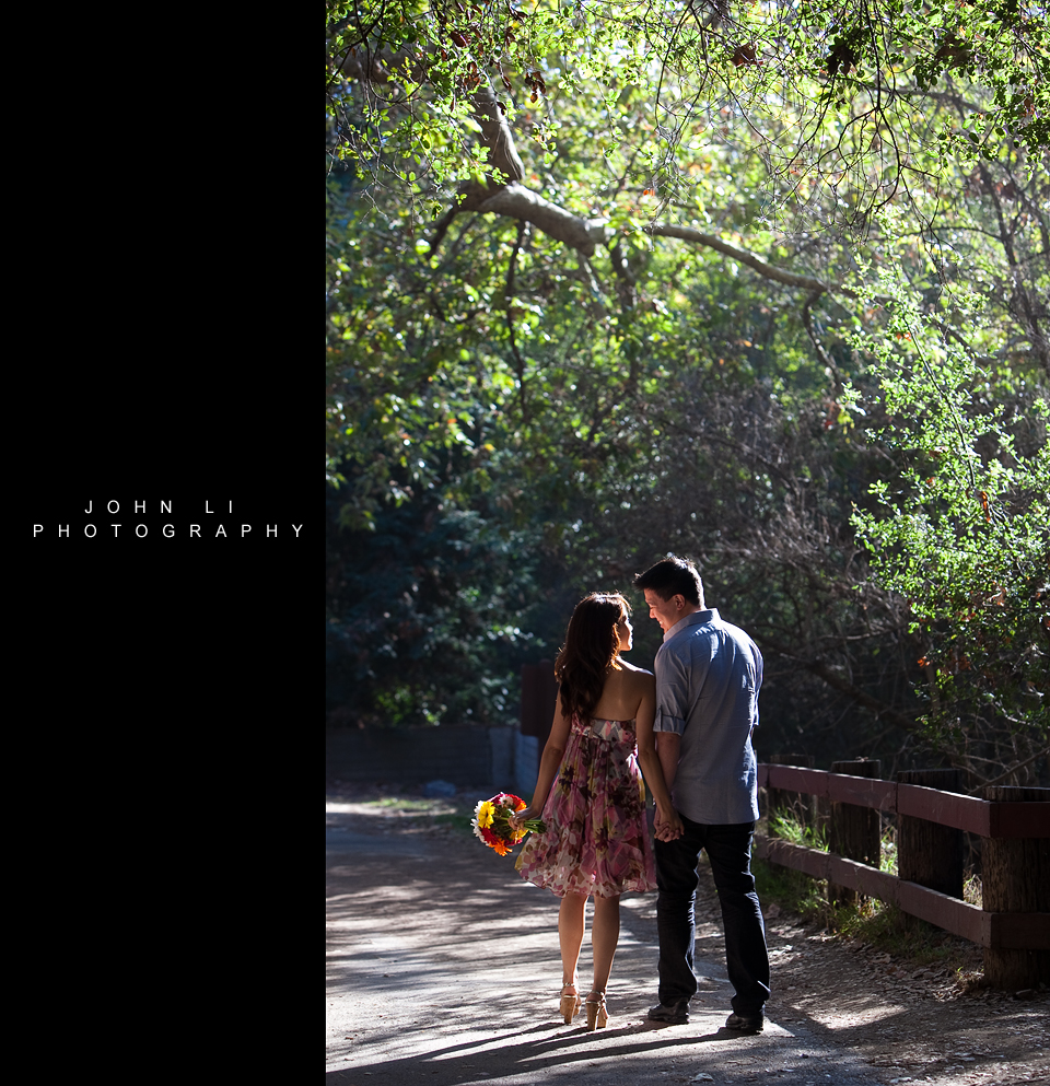 Spring engagement Santa Monica engagement photos temescal gateway park