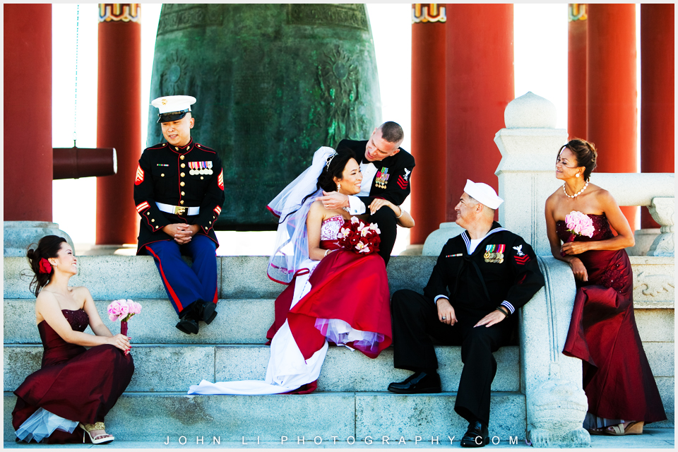 Military wedding photos in Korean Bell