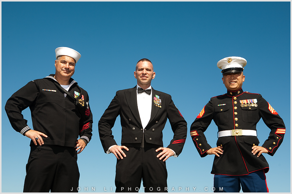 Navy groom San Pedro wedding