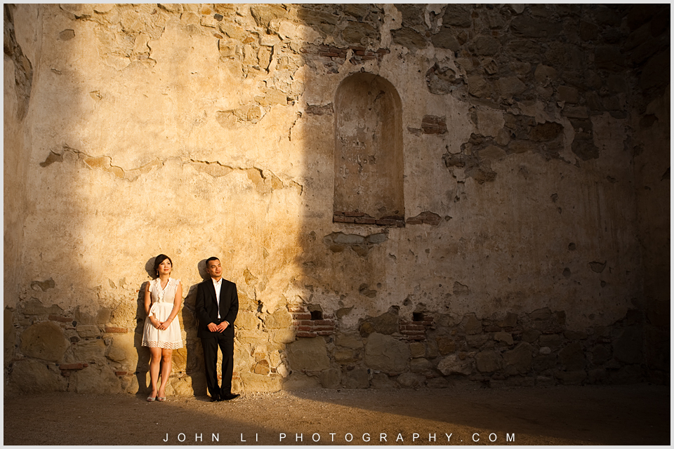 Mission San Juan Capistrano engagement images
