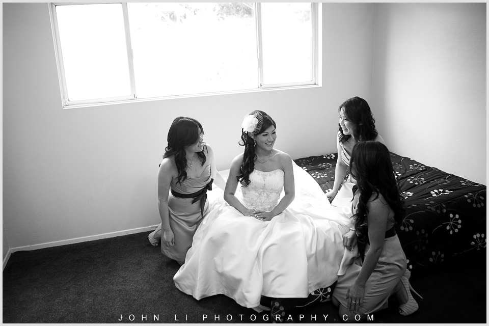 Los angeles wedding photography bridal group