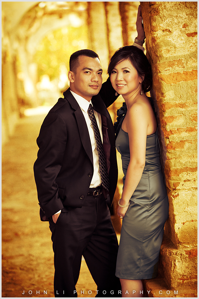 San Juan Capistrano Mission vantage style engagement session
