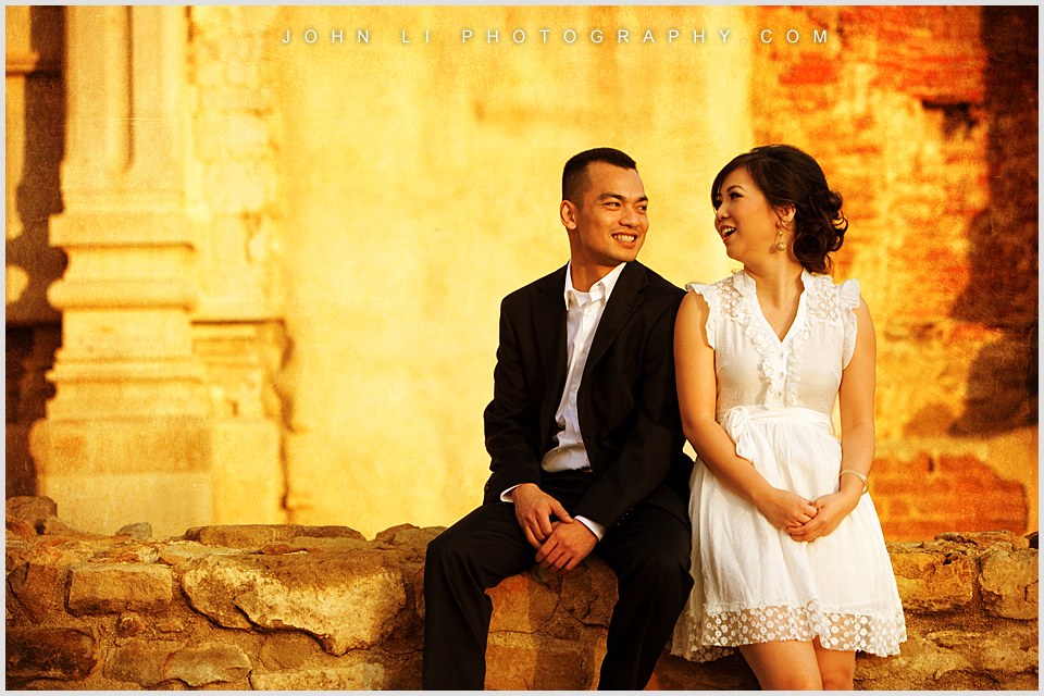 Mission San Juan Capistrano engagement photo session