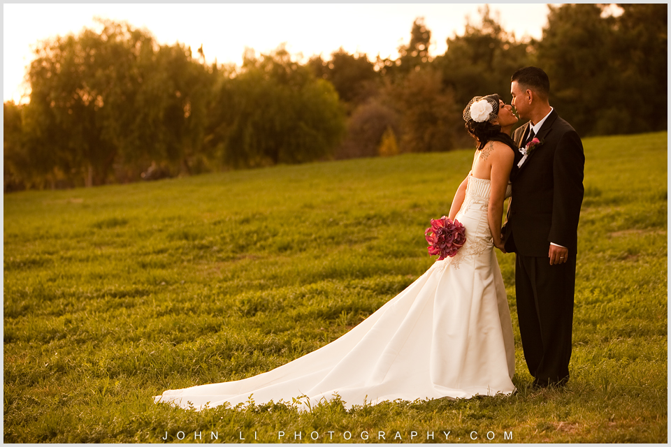 San Dimas wedding images sunset