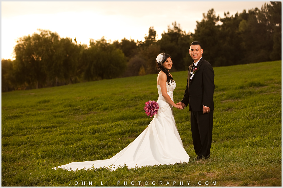 san Dimas wedding photo sunset shot