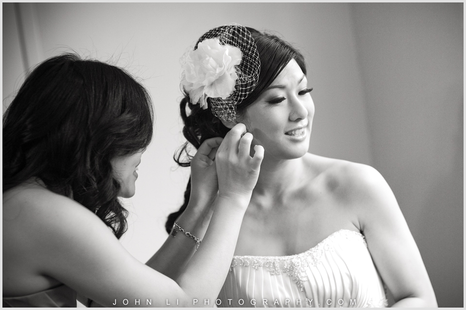 wedding bride getting ready