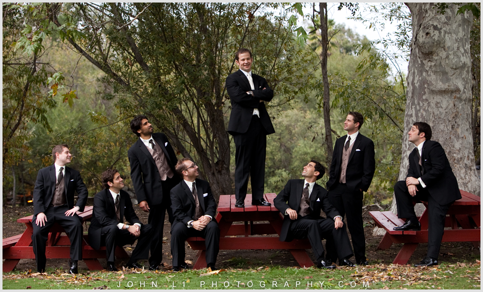 CALAMIGO RANCH WEDDIng photos grooms men group pictures
