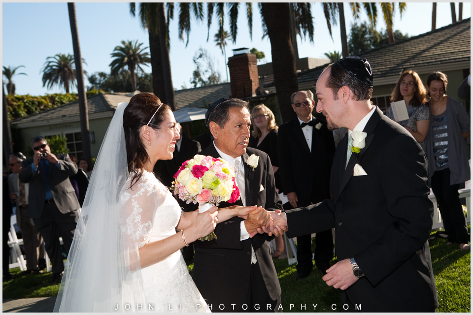 Fairmont Hotel wedding Santa Monica ceremony