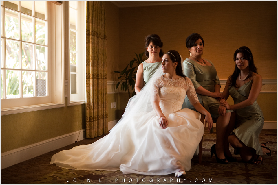 Fairmont Hotel wedding bridal party