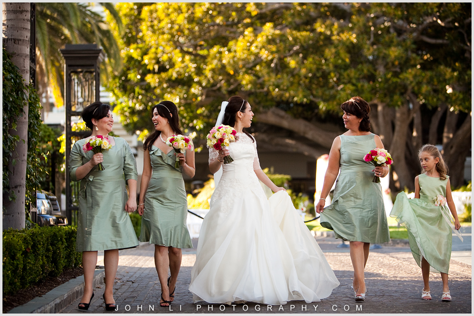 Fairmont wedding bridal party