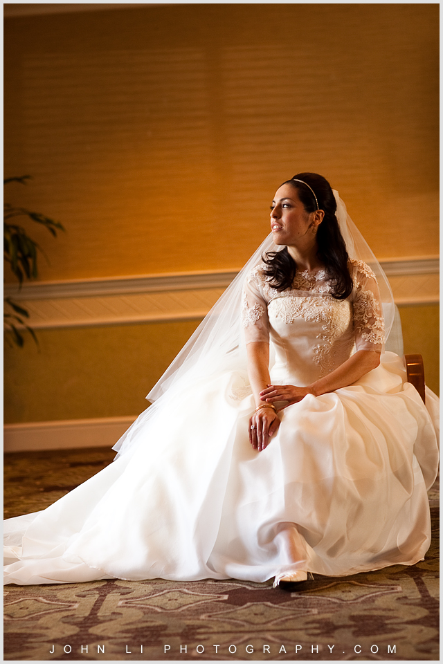 Fairmont wedding bride portrait