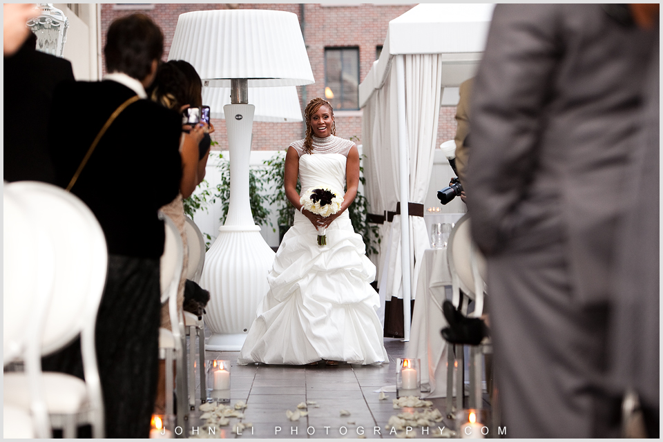 Huntley hotel wedding ceremony