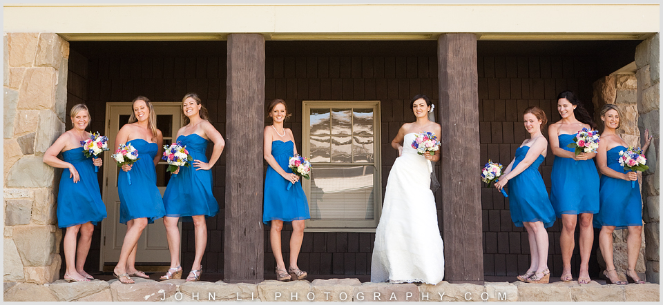 Santa Paula Limoneira Ranch Wedding bridal group pictures