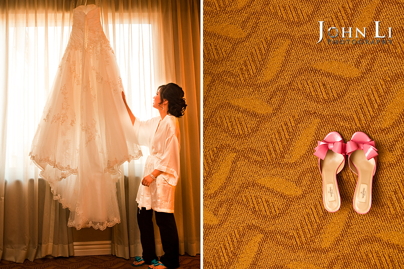 Los Angeles wedding photographer wedding shoes dress