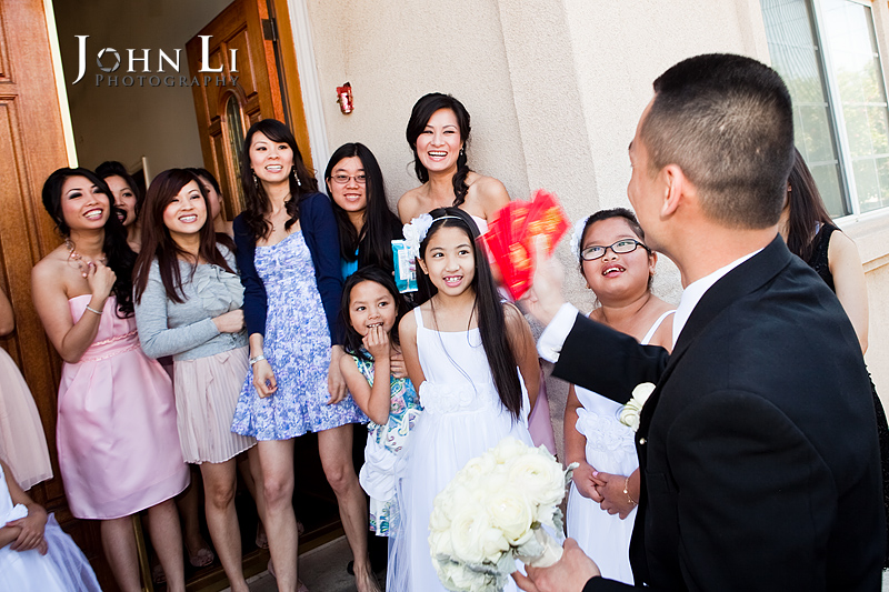 Los Angeles wedding photos Door game