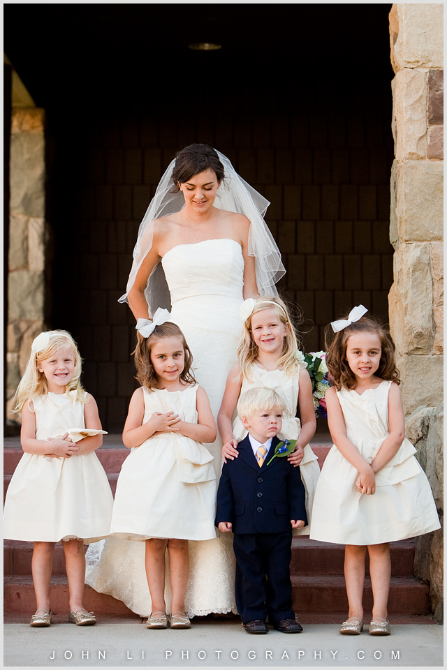 Limoneira Ranch wedding photos bride and flower girl