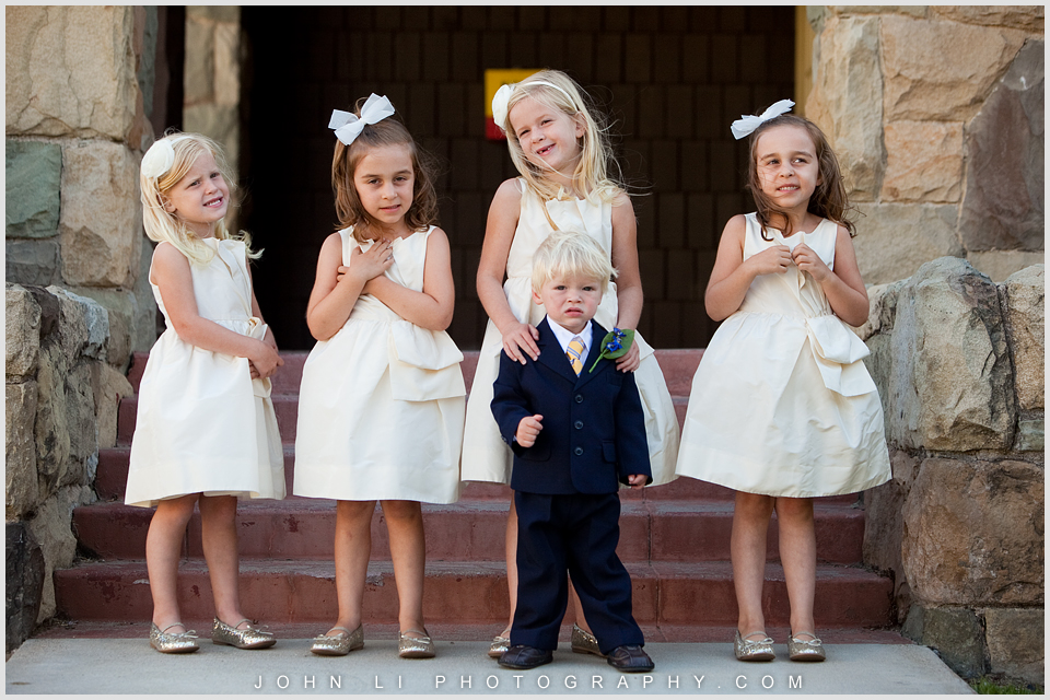 Limoneira Ranch wedding photos flower girls