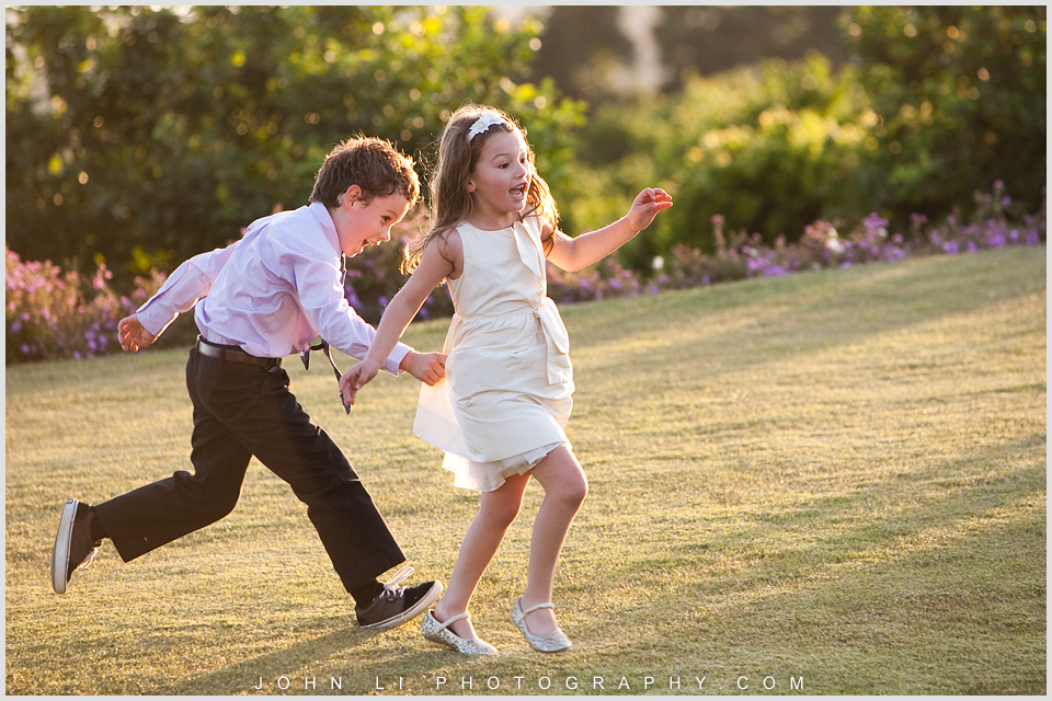 Santa Paula Limoneira Ranch Wedding reception children at paly